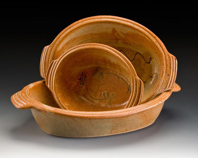 Barking Spider Pottery's Rust Au Gratin Dishes