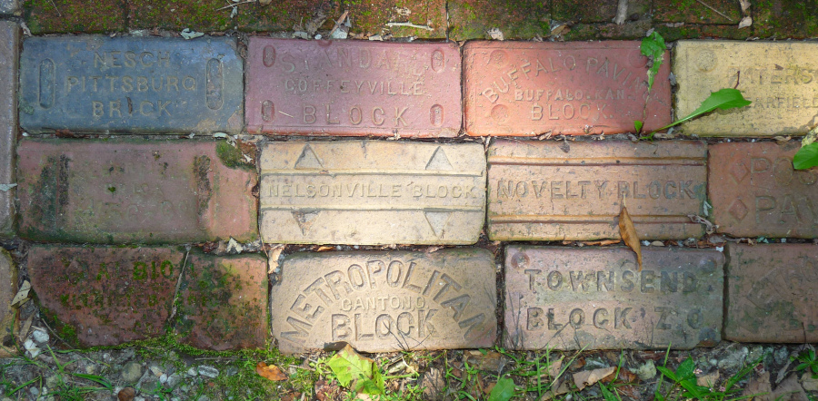 antique bricks with manufacturers stamps jane street clayworks