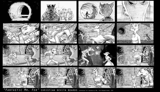 fantastic mr  fox storyboard by christian devita