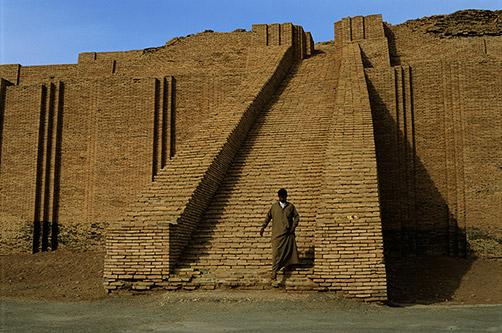 Ziggurat of Ur, Sumer, as it is today.