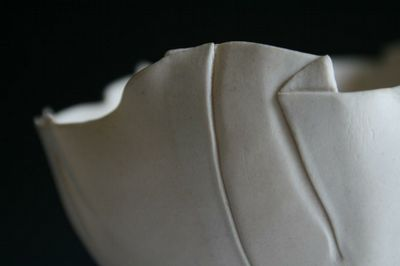 Draped and folded porcelain