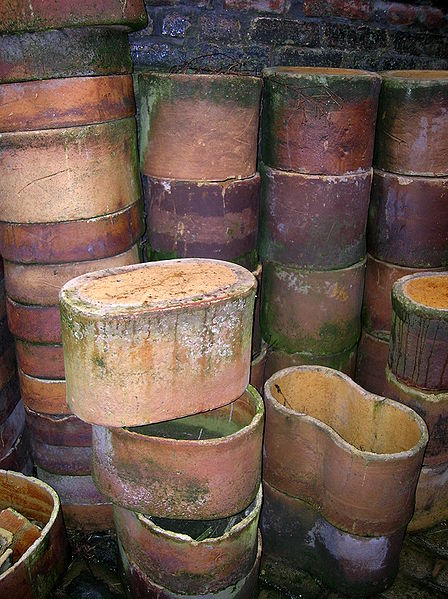 A Stack Of Saggars At The Gladstone Pottery Museum Stoke