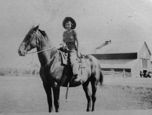 My Great-Aunt Della Kelley at a Kelley Ranch near Avon Montana. Source: Kelley Schott