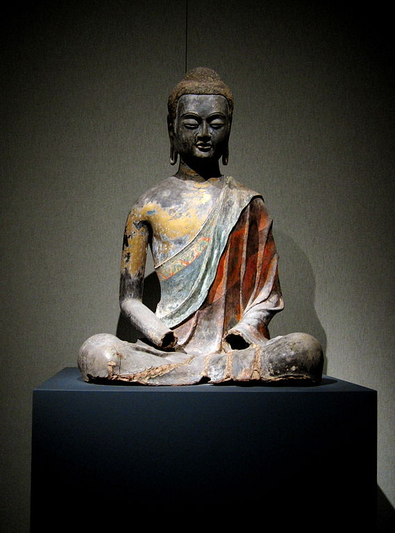 Seated Buddha, Tang dynasty, circa 650