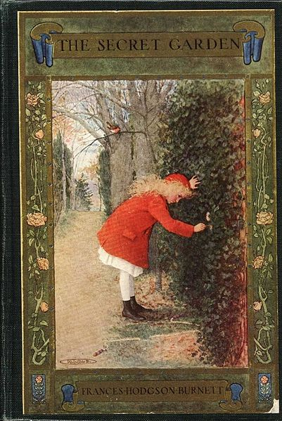 The Secret Garden book cover. From The Project Gutenberg EBook of The Secret Garden, by Frances Hodgson Burnett via Wikimedia Commons