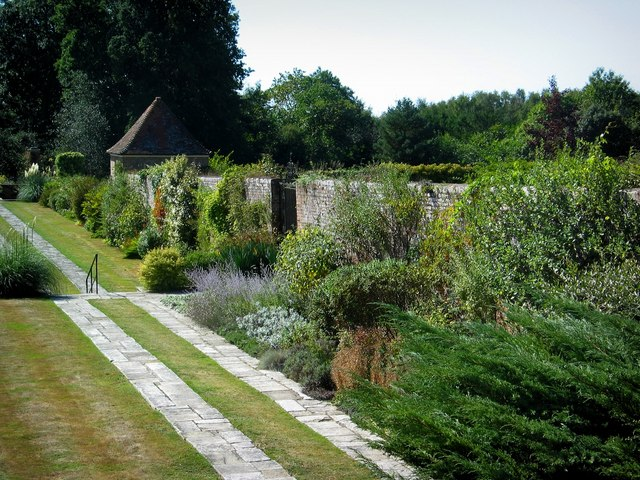 "Great Maytham Hall Garden, said to be the inspiration for ""The Secret Garden."" By Stephen Nunney, geograph.org.uk, via Wikimedia Commons"