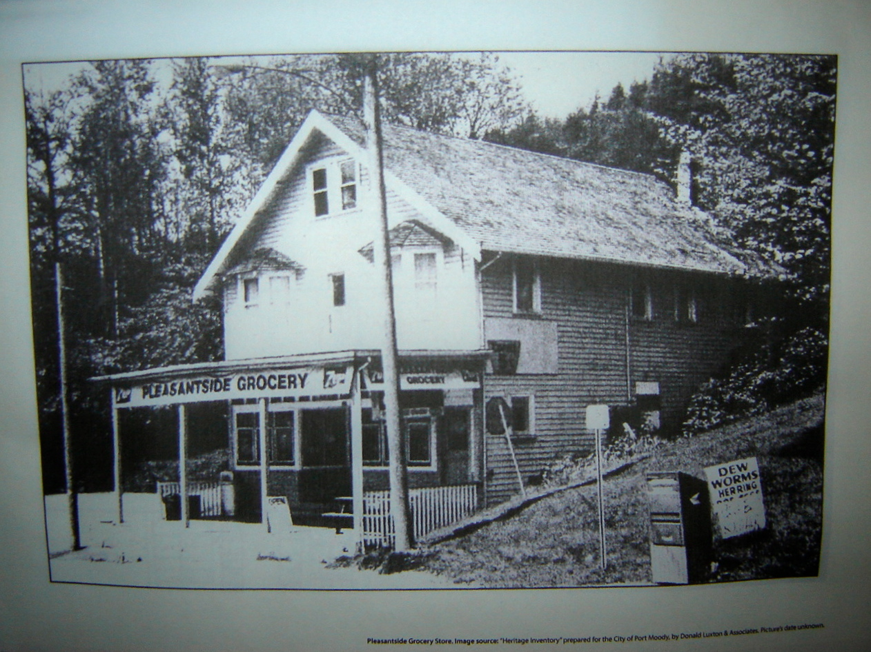 1. An old photo of the Pleasantside Grocery Store, on Ioco Rd. in Port Moody
