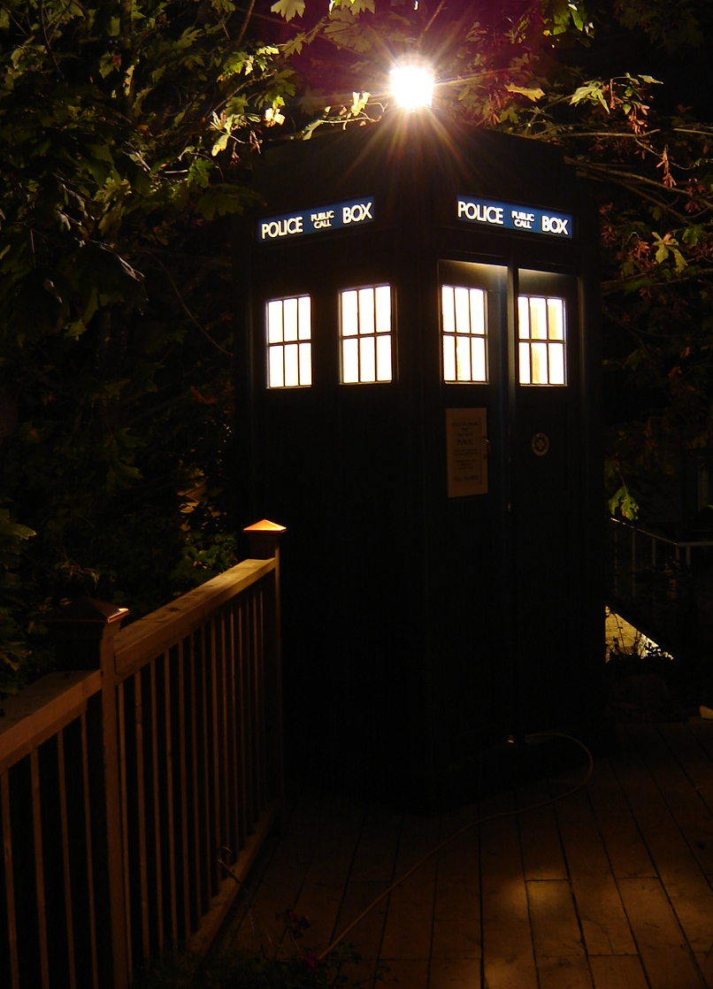 Tardis At Night Jane Street Clayworks