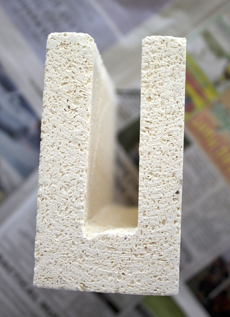 DIY Bead Rack, end shot