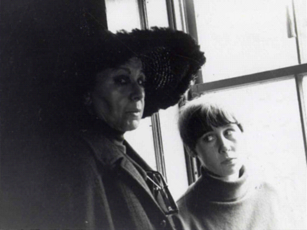 Louise Nevelson and Neith Nevelson, 1965. Previously unpublished picture. By NeithNevelson via Wikimedia Commons
