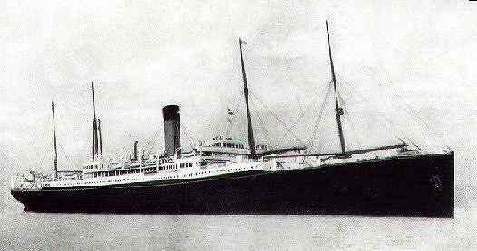 SS Ceramic, White Star Line. Public domain via Wikimedia Commons