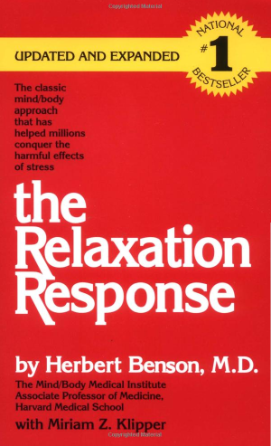 Cover of the book (reissue) The Relaxation Response, by Herbert Benson. Source: Amazon.com via Wikimedia Commons
